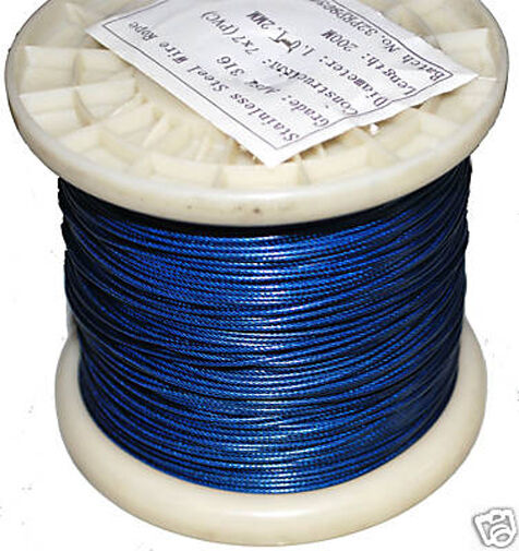 Shark fishing wire. 120kg 300m spool. 1.2mm Nylon Coated 316SS 316SS Coated Shark Trace. 72fa12