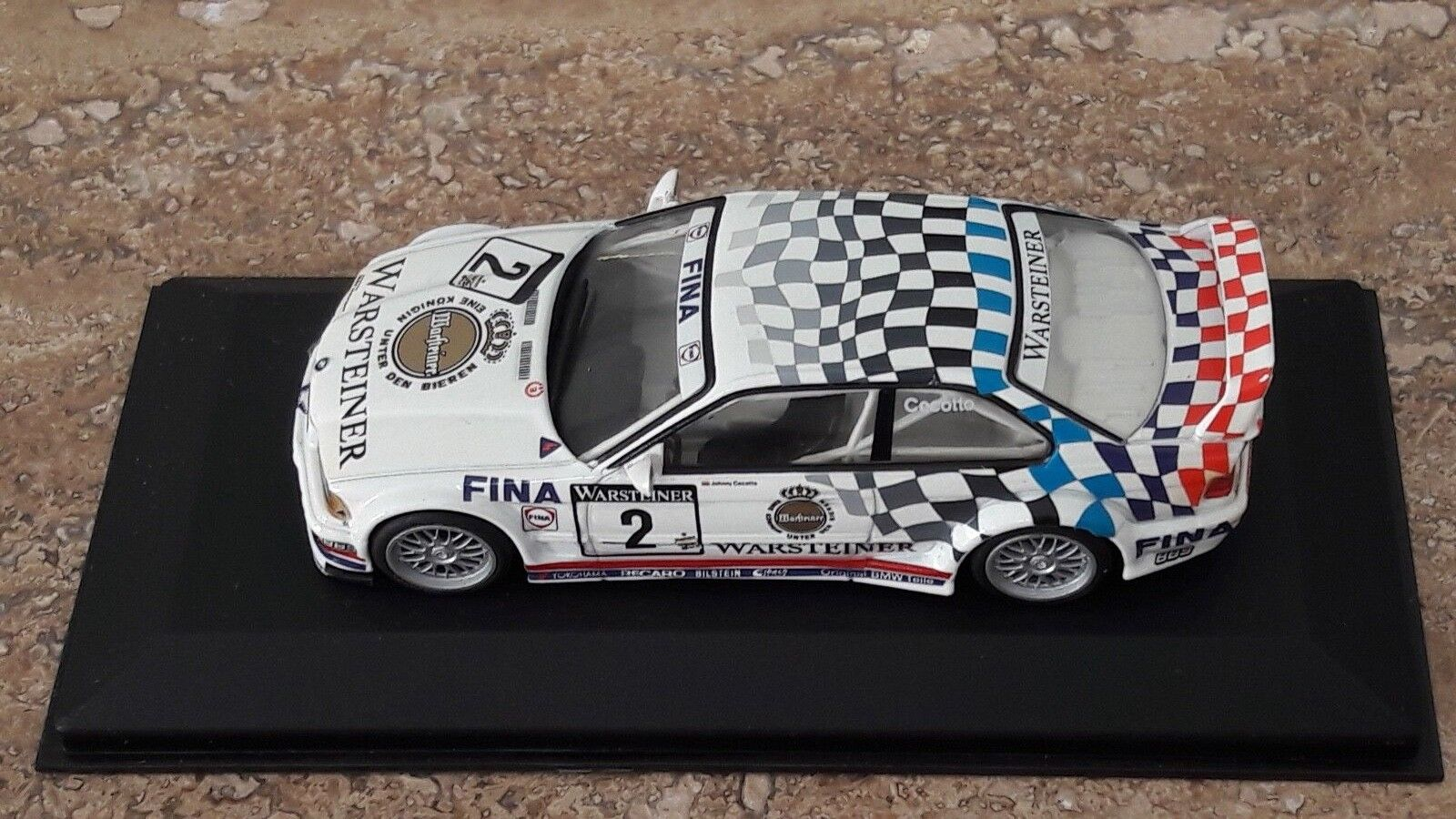 BMW M3 GTR E36 Warsteiner  2 - ADAC GT 1993 - Johnny Cecotto - Minichamps 1 43
