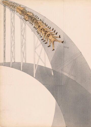"""Slide detail/""""  Bauhaus Constructivism Poster LASZLO MOHOLY-NAGY /""""Rutschbahn"""
