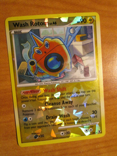 PL Pokemon WASH ROTOM Card RISING RIVALS Set RT5 Rare Reverse Holo//Foil PLAYED