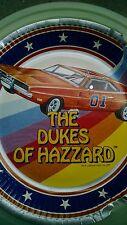"(5) Vintage Dukes of Hazzard General Lee Car 9"" Paper Plate Printed 1981"