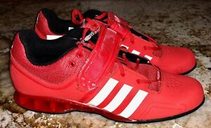 Details about ADIDAS AdiPower Weightlifting Red White Lifting Training Shoes NEW Mens Sz 15