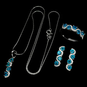 Paraiba-Blue-Apatite-Round-3mm-Cz-925-Sterling-Silver-Ring-Earrings-Necklace