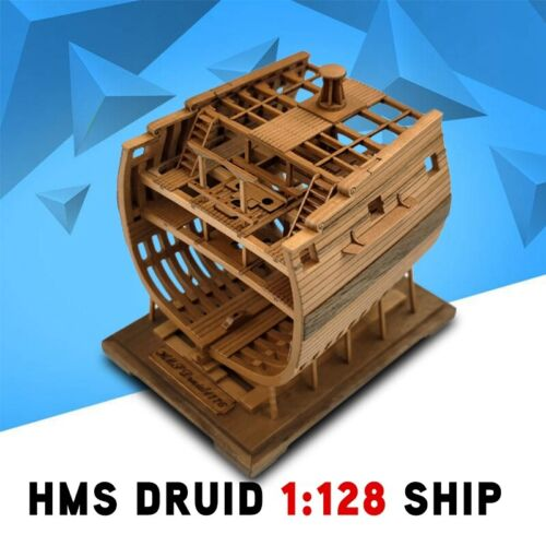 2020 New Hms Druid 1:128 Ship X Cross Section Middle Part Wooden Model Ship Kit