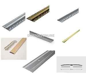 Image is loading Carpet-Strips-Door-Cover-Metal-Edgings-Vinyl-Silver-