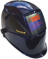 Auto Oscurecimiento Solar Soldadores Casco Soldadura Máscara Con Pulido H12 Azul