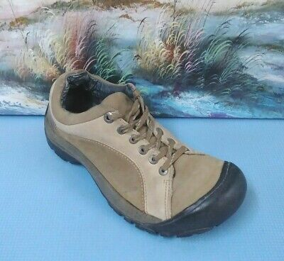Keen Size 39// UK6 Ladies Brown Leather Walking Hiking Trail Trainers Shoes