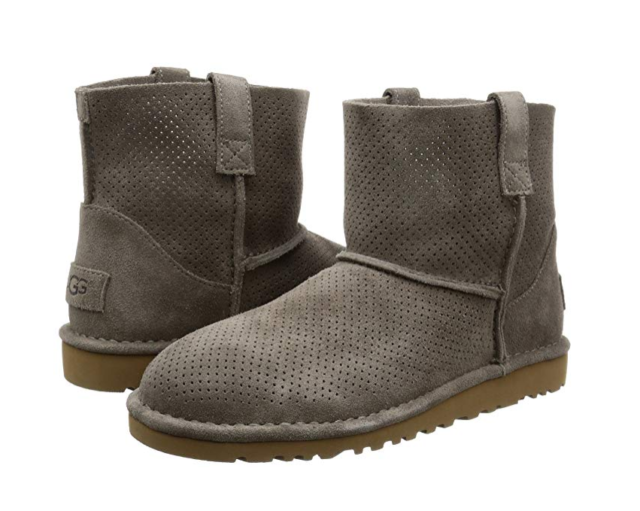 d973d4227a6 UGG Australia Classic Unlined Mini Perforated BOOTS Mole 10 US / 41 EU