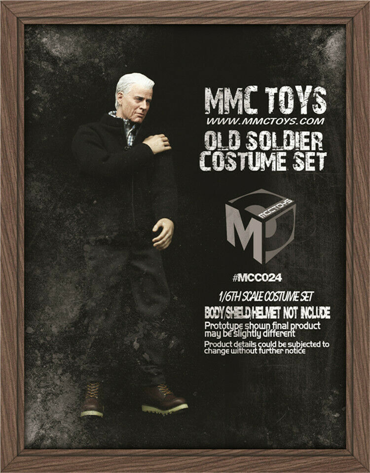 MCCTOYS MCC024 1 6th Classic Old Soldier Costume Set F12'' Figure Body Model Toy