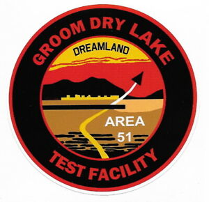 """4 Inch """"Official"""" Area 51/Groom Lake Sticker"""