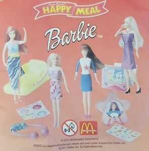 McDonalds-Happy-Meal-Toy-2001-Barbie-Doll-Plastic-Figure-Toys-Various-Figures
