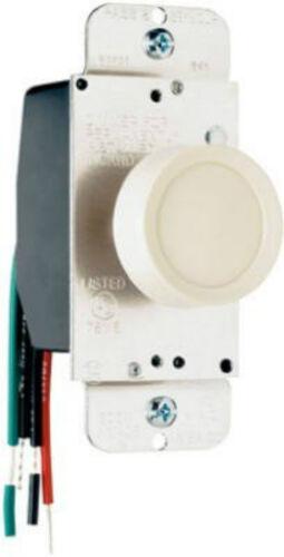 Pass /& Seymour 90603LAV 600W Almond 3 WAY Rotary Light Dimmer Push On//Off Switch