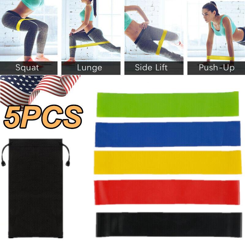 11 Pcs Resistance Band Set Yoga Pilates Abs Exercise Fitness Tube