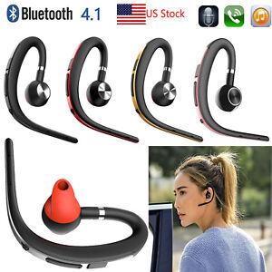 Wireless Bluetooth Headset Ear Hook Earpiece For Iphone Samsung Lg Htc Tablets Ebay