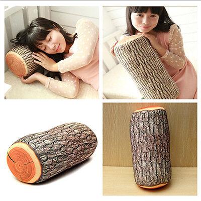Design Natural Wood Log Throw Pillow Back Soft Cushion Car Neck Home Sleeping