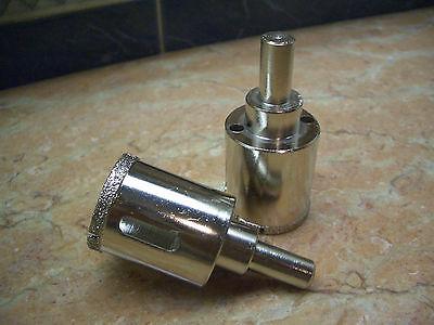 """2 x 32mm ( 1 1/4"""" inch ) THK Diamond coated drill bit bits hole saw aquarium"""