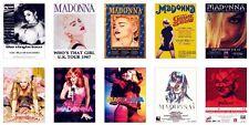 Madonna Concert Posters Trading Card Set
