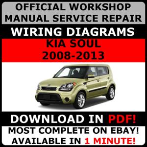 official workshop service repair manual for kia soul 2008 2013 rh ebay com Kia Sportage Wiring Diagram PDF Kia Soul Wiring Diagrams