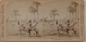Egitto Un Mixer Egiziano Cairo Foto Stereo Vintage Albumina 1896