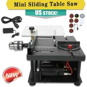 Mini-Sliding-Table-Saw-Woodworking-DIY-Hobby-Model-Cutting-Bench-Saw-Household