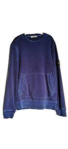 Mens-Blue-Stone-Island-Sweatshirt-Size-Large