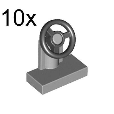1x2 Light Gray Car Auto Steering Wheels ~ Lego ~ NEW ~ 6