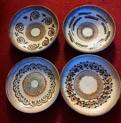 Horezu Pottery Handmade Horezu Romanian Ceramic Decorative Plate With Geometric Motif Pottery Wheel Clay