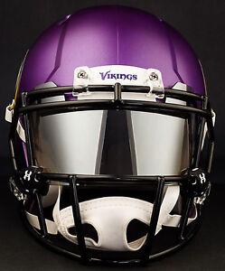 Image is loading MINNESOTA-VIKINGS-NFL-Football-Helmet-with-CHROME-MIRROR- eb189b8b3