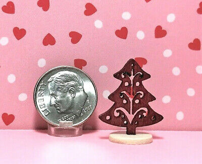 Miniature Dollhouse Christmas Ornaments// 12 Red Glass  #2