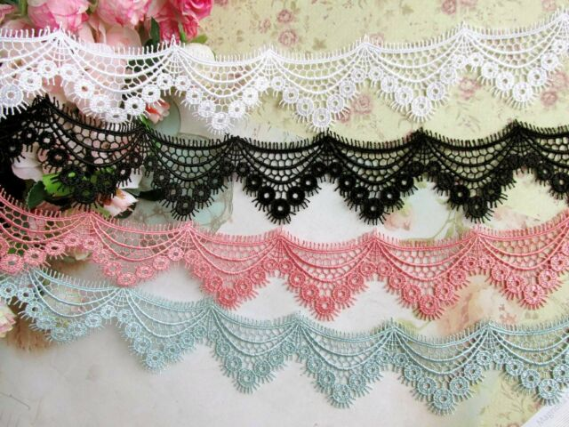 5 cm width 4 Colors (light red) Beautiful Venise Lace Trim