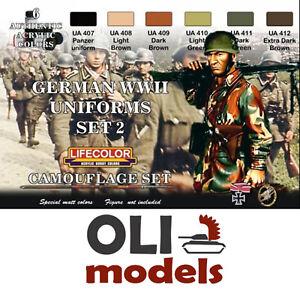 Lifecolor Acrílicos LC-CS05 Guerra Mundial 2 Uniformes Alemães Conjunto 2