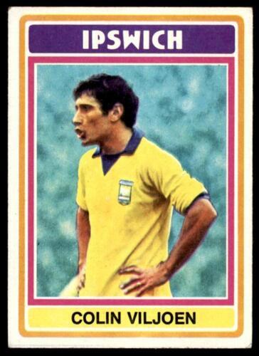 196 B1 Colin Viljoen Ipswich Town No Topps Football Blue//Grey 1976