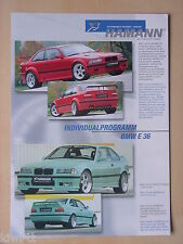 Hamann Motorsport BMW E36 Tuning, Prospekt / Brochure, D/GB
