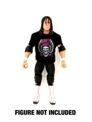 """WWE Bret /'The Hitman /""""Hart/' Calgary/'S FINEST /'Camicia personalizzato per Mattel figure."""
