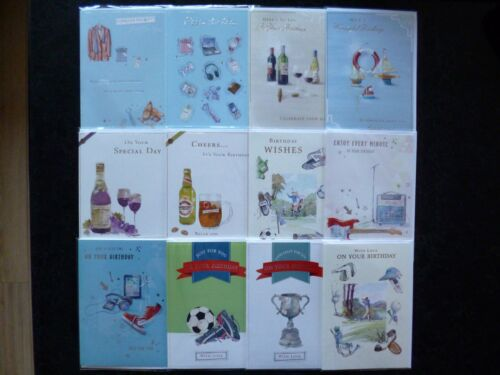 12 MALE OPEN BIRTHDAY CARDS JUST 50P PER CARD FREE P/&P