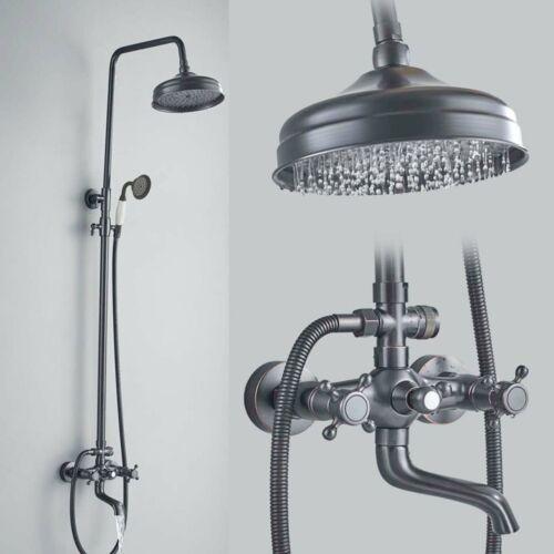 Schwarzes Duschset 8 Zoll Duschkopf Duschsystem Mit ABS Handbrause Regendusche