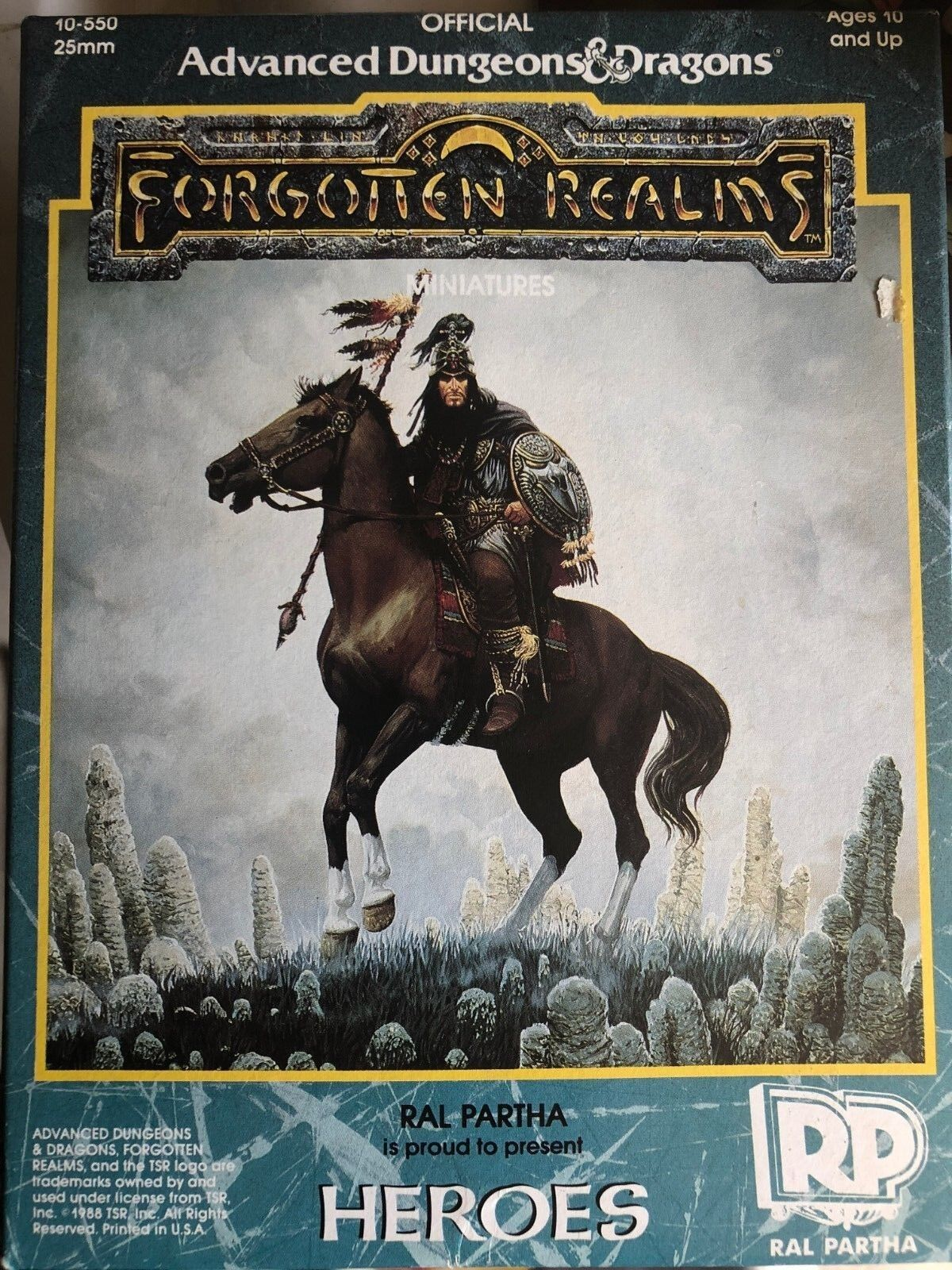 Ral Partha AD&D FORGOTTEN REALMS REALMS REALMS HEROES Box Set 10-550  Miniatures box - new 4c809e