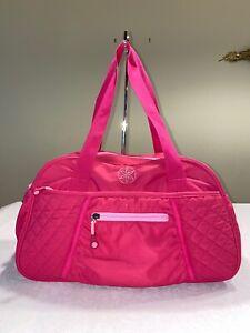 Gaiam-Large-Yoga-Duffel-Duffle-Gym-Bag-Pink