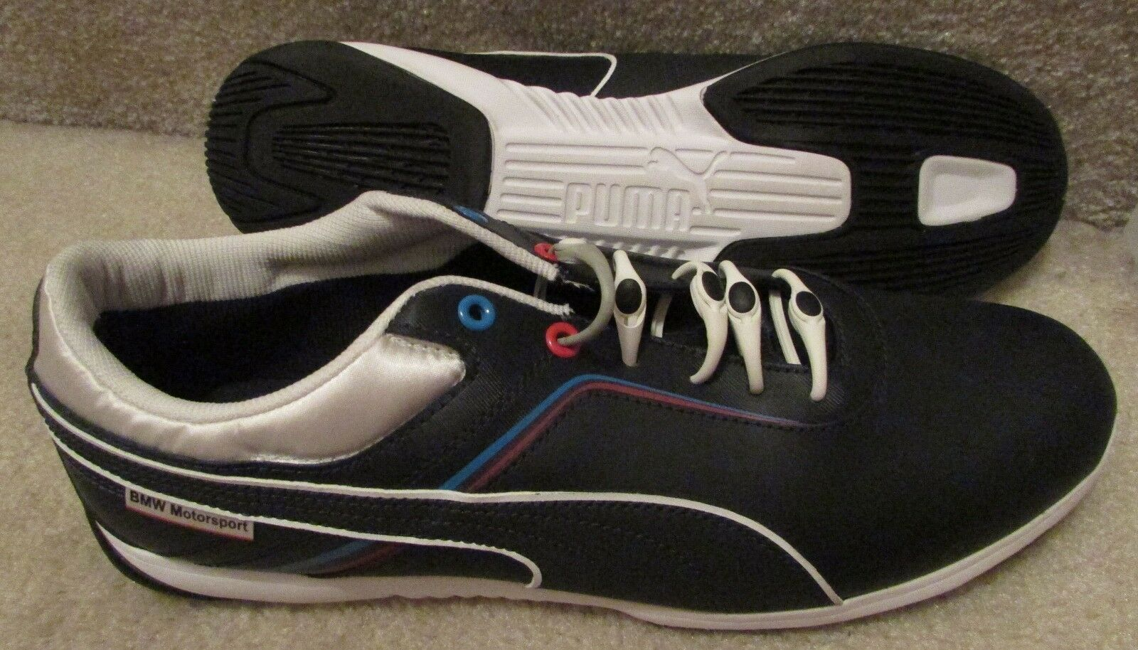 PUMA BMW MS Mens Driving shoes Sneakers IGNITE WHITE 305098 01 Size 11.5 NEW
