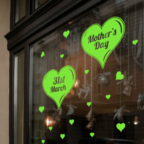 Mother/'s Day Wall /& window stickers maman mother Décalques shop window display a343