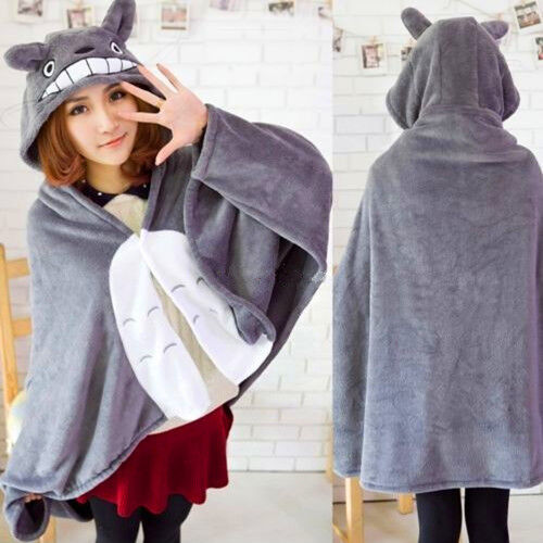 Cos Kigurumi My Neighbor Totoro Cloak Cape Costume Air Conditioner Blanket Shawl