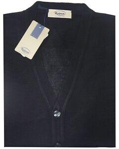 MAGLIA UOMO cardigan lana merino 46 48 50 52 54 56 58 60 giacca bottoni Bordeaux