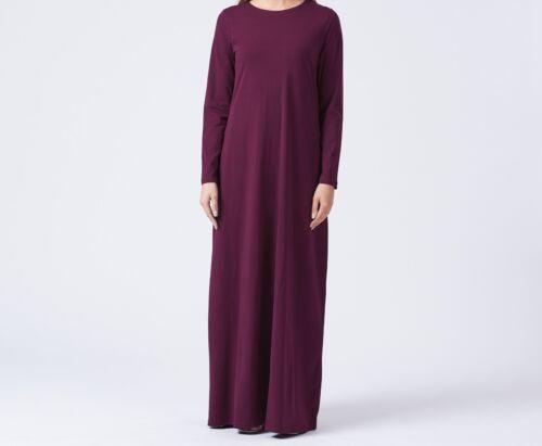UK WOMENS MAXI ABAYA DRESS CASUAL HIGH QUALITY PLAIN LONG JERSEY MULTI COLOURS