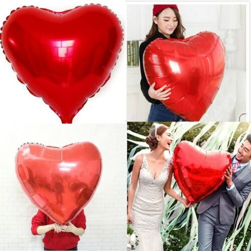 """32/'/' INCH Heart Foil Balloons Valentine Wedding Engagement Party Ballons UK 18/"""""""