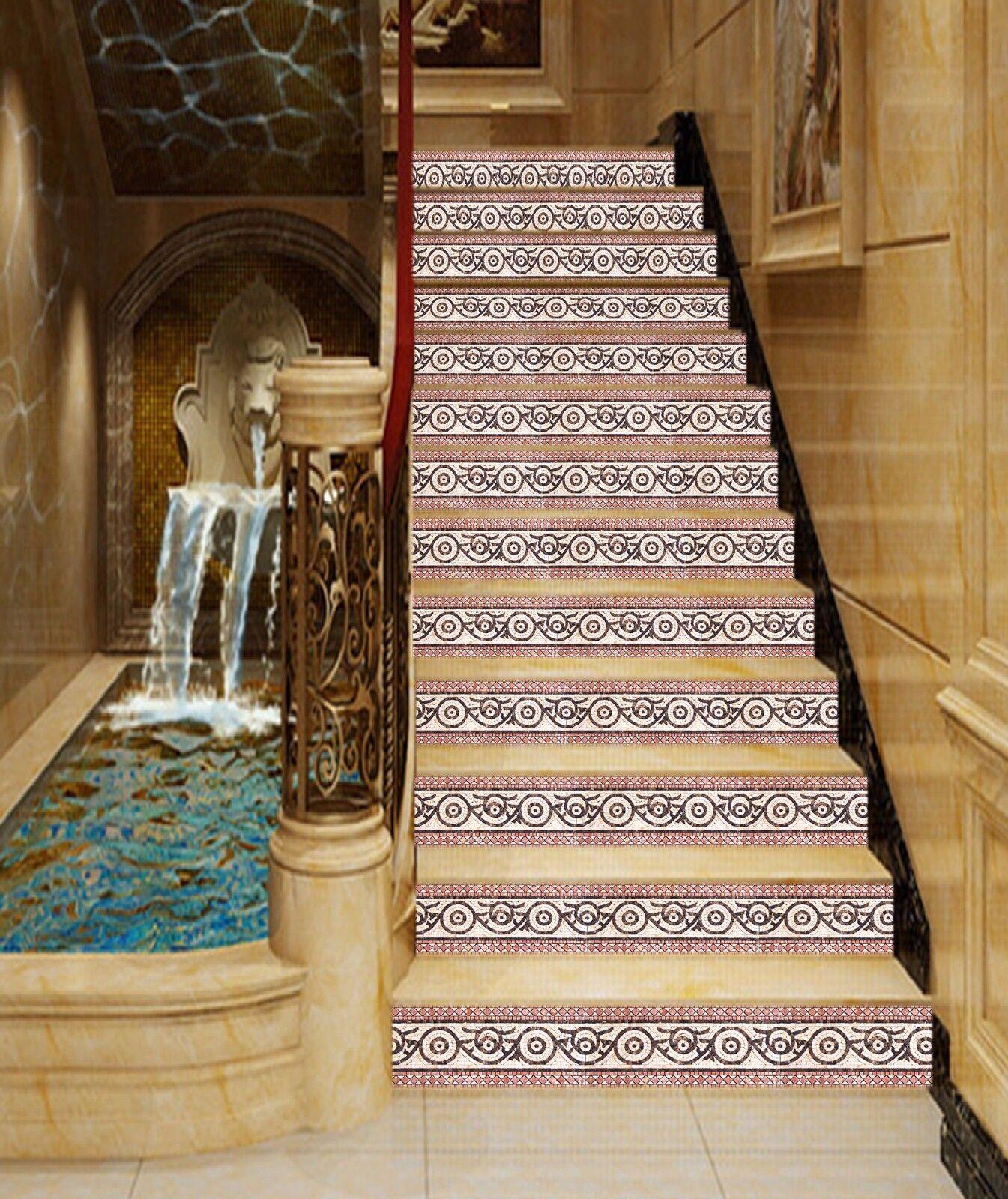 3D Blaume 403 Stair Risers Dekoration Fototapete Vinyl Aufkleber Tapete DE Lemon