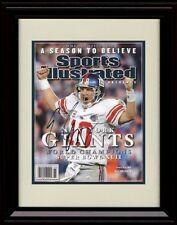Framed Eli Manning SI Autograph Replica Print - New York Giants - Super Bowl 42
