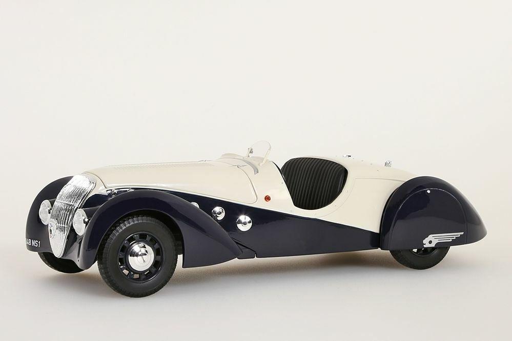 Peugeot 302 Darl Mat Roadster 1937 dunkelblau creme 1 18 Norev Neu 184705