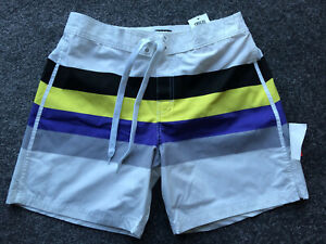 ASOS-Mens-Triple-stripe-shorts-White-Size-30-034-NEW-WITH-TAGS