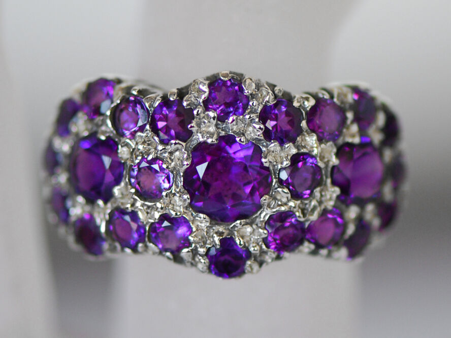 A beautiful ring set with genuine AAA Amethyst