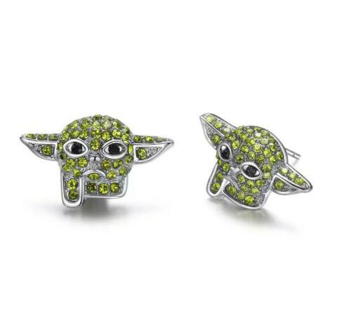 Baby Yoda Star Wars Cristal Pendiente Conjunto Mandalorian Stud Cumpleaños Navidad de 893
